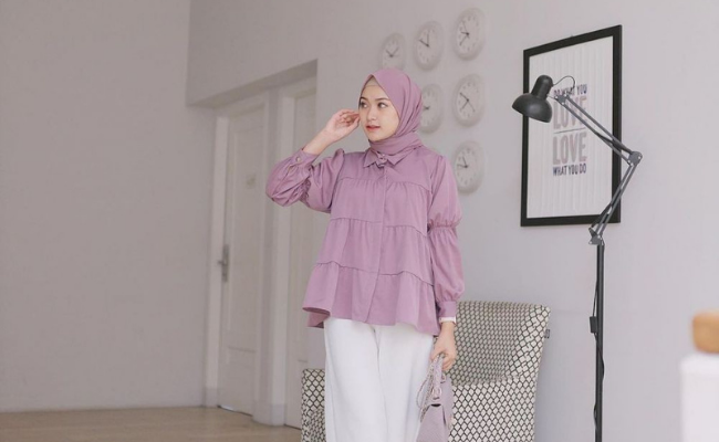 Outfit Hijab Lilac